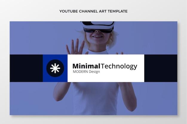 Flat design minimal technology youtube channel
