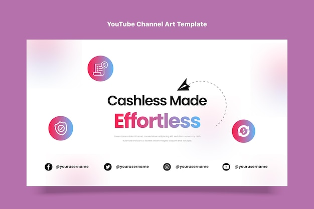 Canale youtube con tecnologia minimale dal design piatto