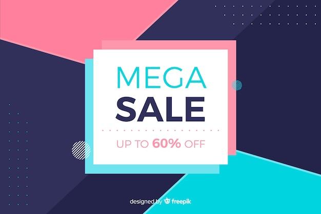 Flat design minimalist sale background