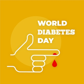 Flat design minimalist world diabetes day concept