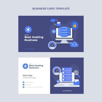 Flat design minimalistic technology business card
