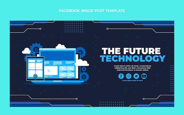 Плоский дизайн минималистичный технологический пост в фейсбуке
