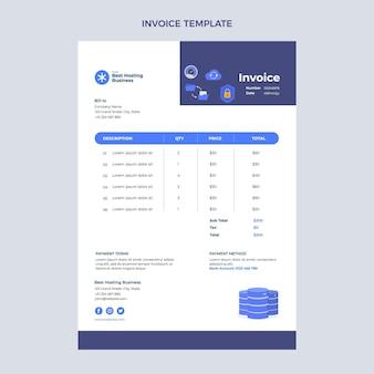Flat design minimalistic technology invoice