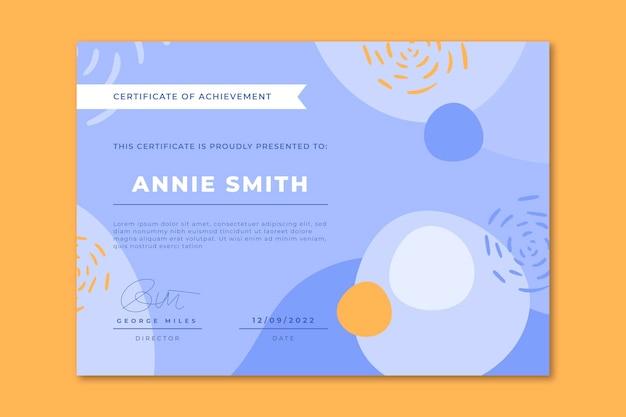Современный сертификат плоский дизайн