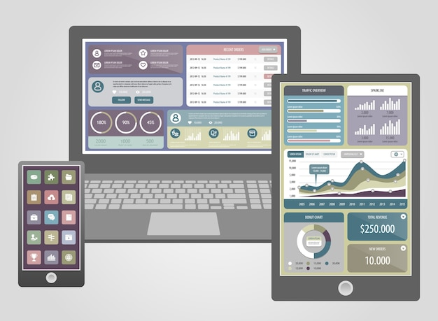 Flat design modern  icons set of website seo optimization, programming process and web analytics elements.