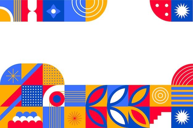 Плоский дизайн мозаичного фона Premium векторы