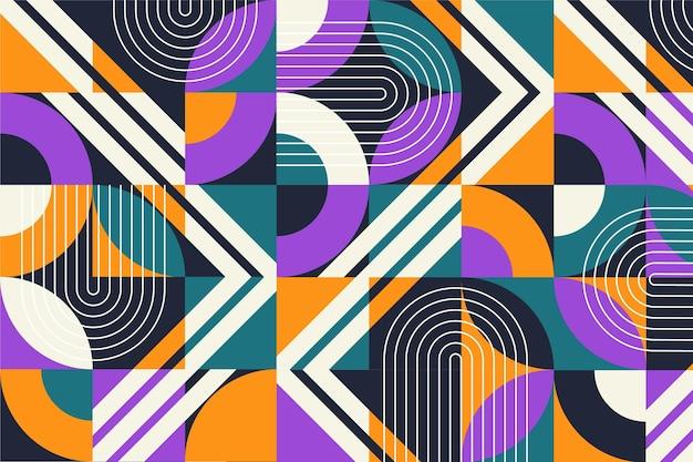 Flat design mosaic background