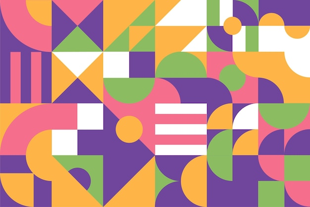 Плоский дизайн мозаичного фона