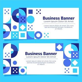 Flat design mosaic banners