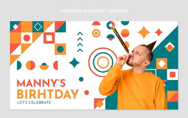 Flat designmosaicbirthday facebook post