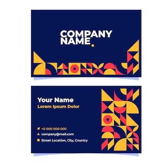 Flat design mosaic business card
