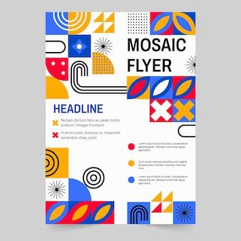 Flat design mosaic flyer template