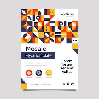 Flat design mosaic flyer