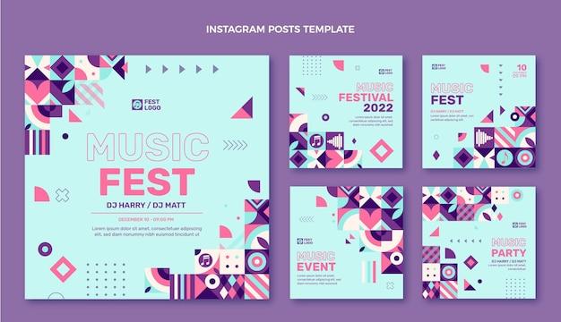 フラットデザインモザイク音楽祭のinstagramの投稿