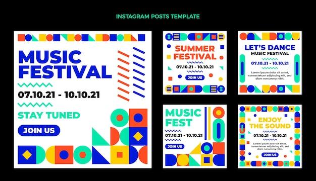 Фестиваль музыки в плоском стиле, посты в instagram