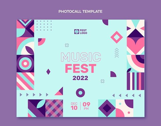 フラットデザインモザイク音楽祭フォトコール