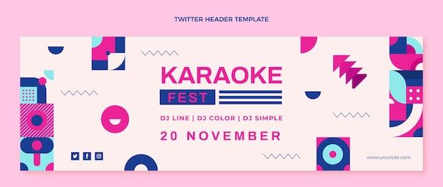 Flat design mosaic music festival twitter header