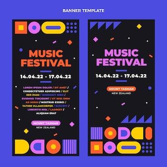 Bandiere verticali del festival di musica del mosaico di design piatto