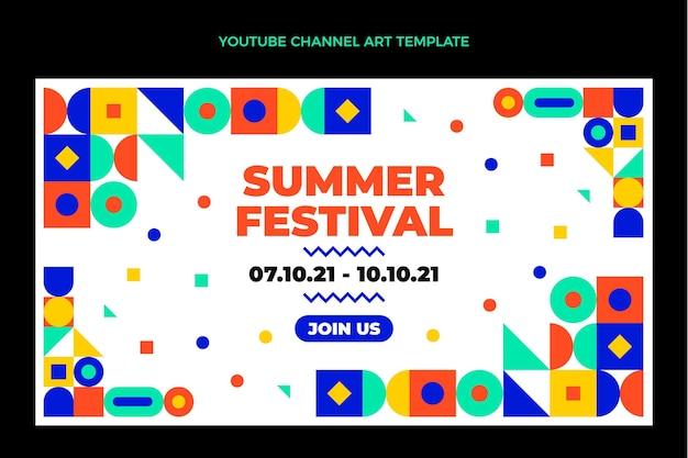 Canale youtube del festival musicale del mosaico di design piatto