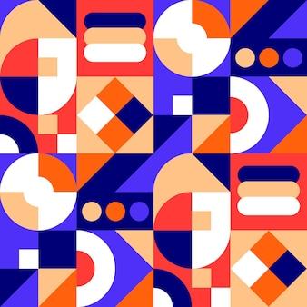 Flat design mosaic pattern
