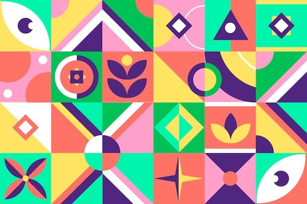 Мозаичные обои с плоским дизайном