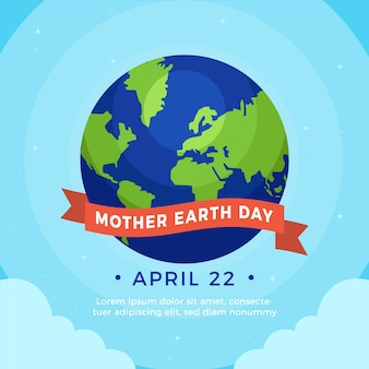 Flat design mother earth day design