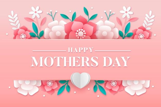 Плоский дизайн фона день матери