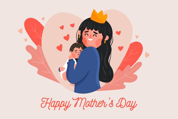 Flat design mother's day event