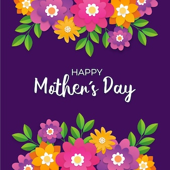 Flat design mother's day lettering