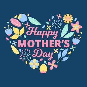 Flat design mother's day