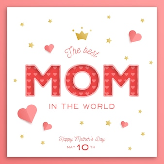 Flat design mothers day