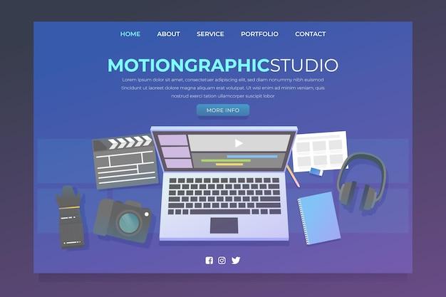Modello di motiongraphics design piatto