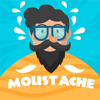 Flat design movember  background
