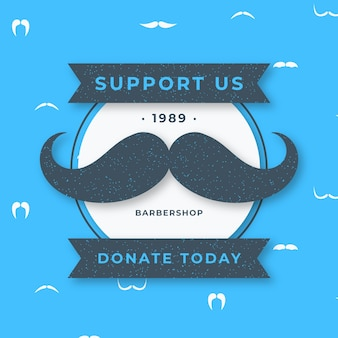 Flat design movember donate background