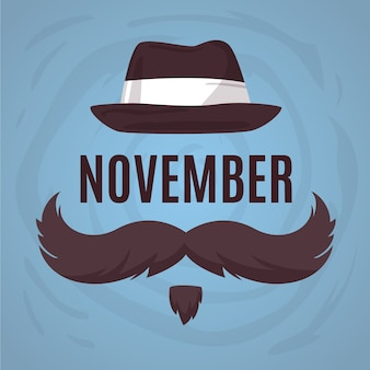 Flat design movember month background