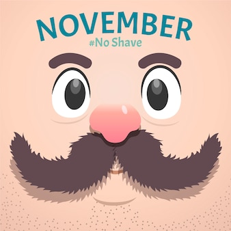 Flat design movember no shave background