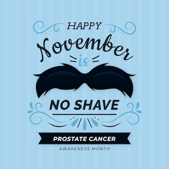 Flat design movember no shave wallpaper