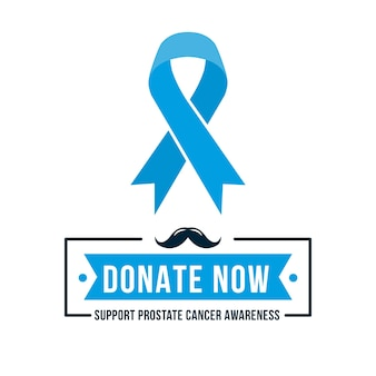 Flat design movember ribbon background