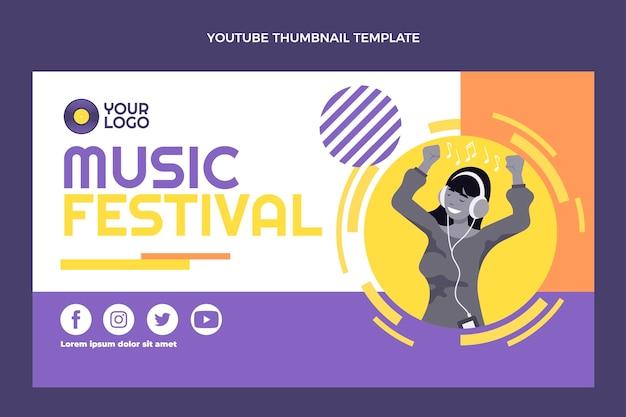 Flat design music festival youtube thumbnail
