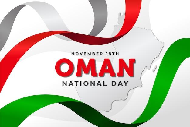 Национальный день омана в плоском дизайне