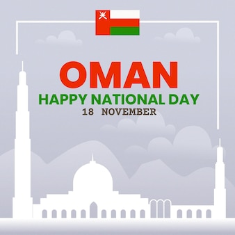Flat design national day of oman