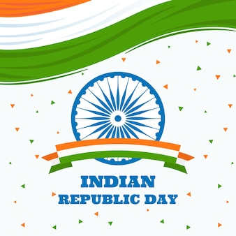 Flat design for national indian republic day