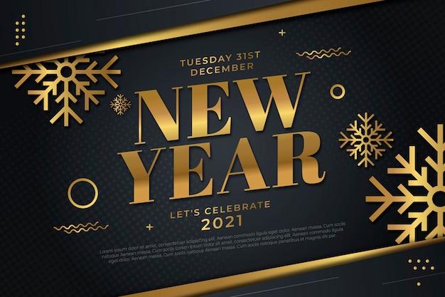 Flat design new year 2021 background