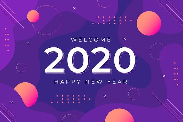 フラットデザイン新年2021背景