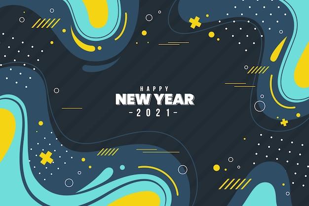 Плоский дизайн новый год 2021 фон