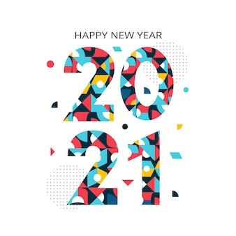 Flat design new year 2021