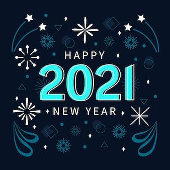 Design piatto nuovo anno 2021