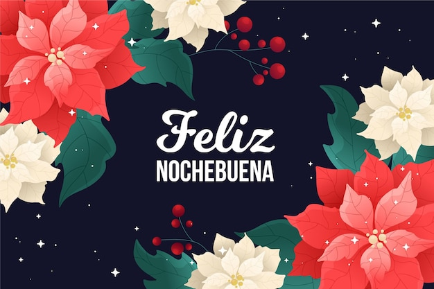 Flat design nochebuena background