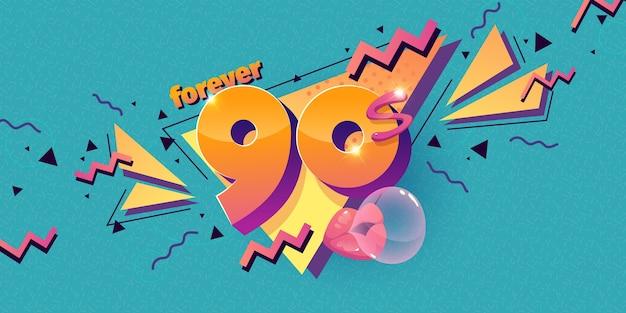 Flat design nostalgic 90's background