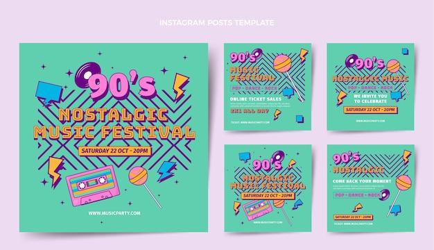 평면 디자인 향수 음악 축제 인스 타 그램 게시물